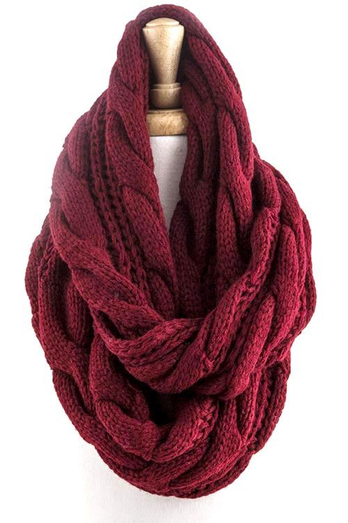 This seasons hottest trend in a comfy cozy knit infinity scarf!