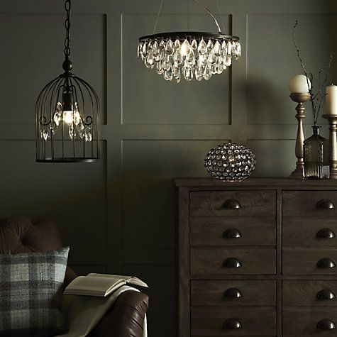 buy john lewis lizbeth flat resto chandelier 3 light