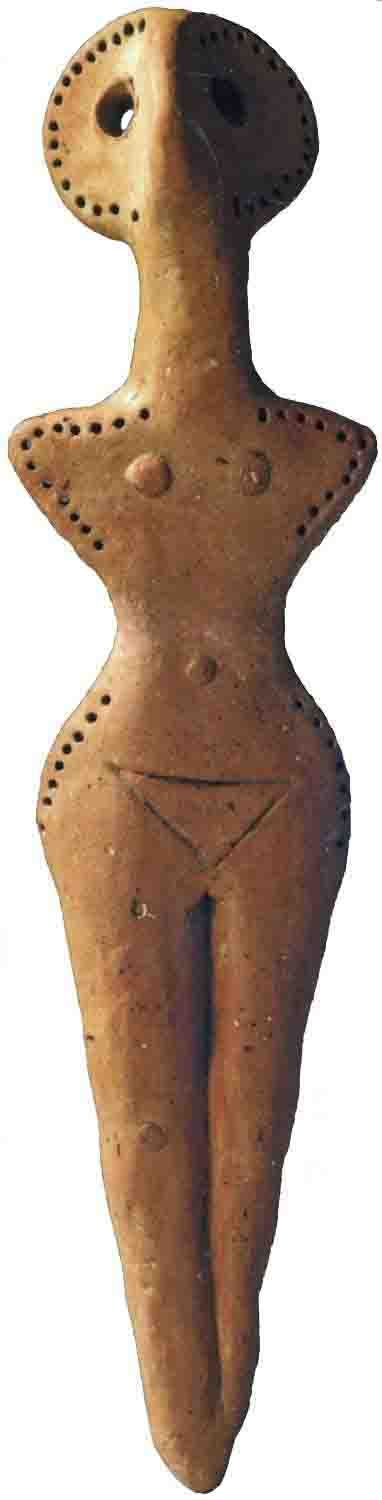Figurine, Cucuteni-Trypillian culture (also known as Cucuteni culture, from Romanian; Trypillian culture, from Ukrainian; or Tripolye culture, from Russian) is a Neolithic archaeological culture which existed from approximately ca. 5500-2750 BCE, from the Carpathian Mountains to the Dniester and Dnieper regions in modern-day Romania, Moldova, and Ukraine.