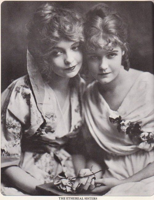 Lillian Gish, Dorothy Gish The Gish Sisters, huge silent screen stars. they started as young girls.