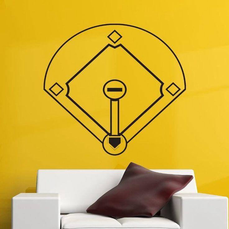 >> Click to Buy << Baseball Car Windows Sticker Name Sports Decal Posters Vinyl Wall Decals Pegatina Quadro Parede Decor Mural Baseball Sticker #Affiliate
