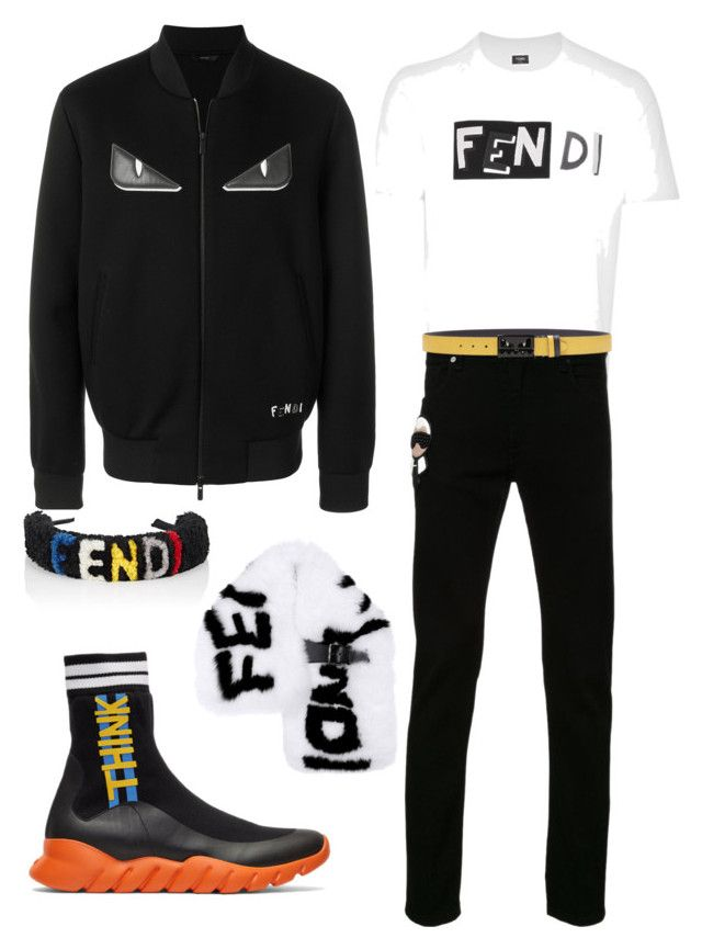 FendiRoma by emmanuel-lewis on Polyvore featuring polyvore, Fendi, men's fashion, menswear and clothing