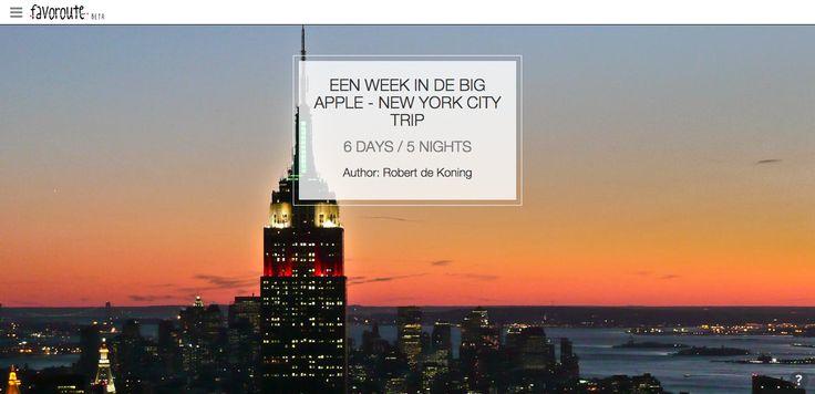 EEN WEEK IN DE BIG APPLE - NEW YORK CITY TRIP by @journeylismnl  http://www.peecho.com/print/en/74279