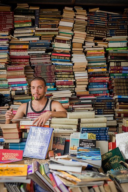 book stall at bazaar in Santiago, Chile. Photo by HyoJung Kim