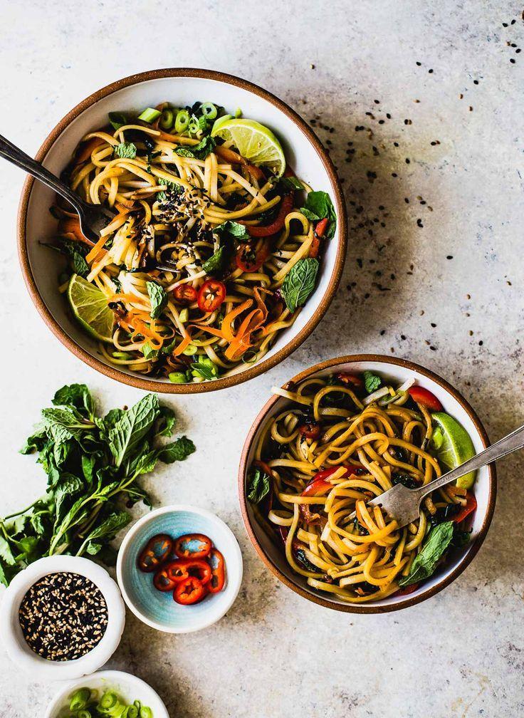 Sesame Thai Rice Noodles