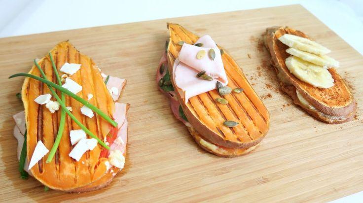 3x een simpel en gezond recept voor een zoete aardappel tosti. Perfect als lunch zonder brood en heerlijk als variatie. Hij past perfect in een dieet.