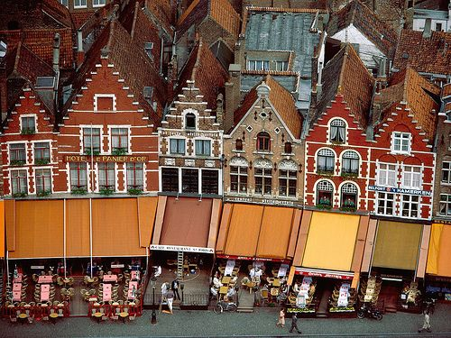 Grote Market, Brugge, Belgium (I've been to Belgium, but I didn't go to Brugge...next time for sure)