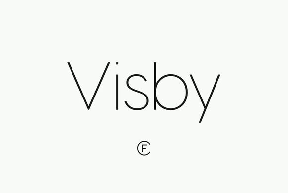 Visby CF font family by Connary Fagen Typography on Creative Market