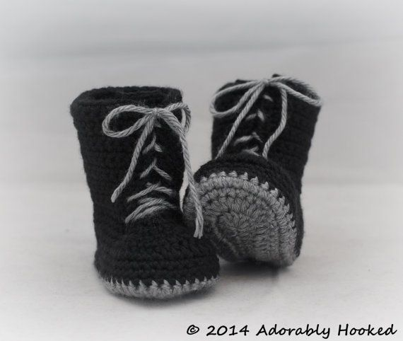 Baby Combat Boots by Adorably Hooked | Things I Have Made ...