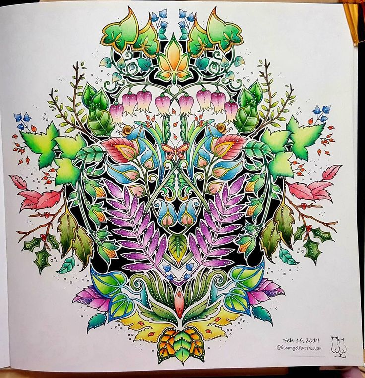 Enchanted Forest No13 The Finished Painting EnchantedForest JohannaBasford ColoringBook