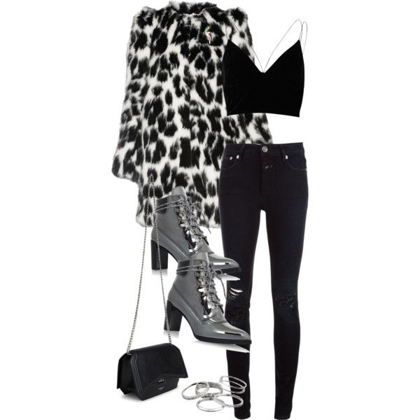 A fashion look from December 2016 featuring River Island tops, Marc Jacobs coats and Closed jeans. Browse and shop related looks.