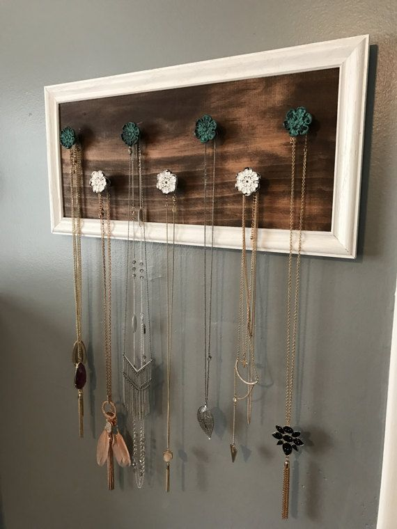 Necklace Holder Jewelry Bedroom Decor Rustic