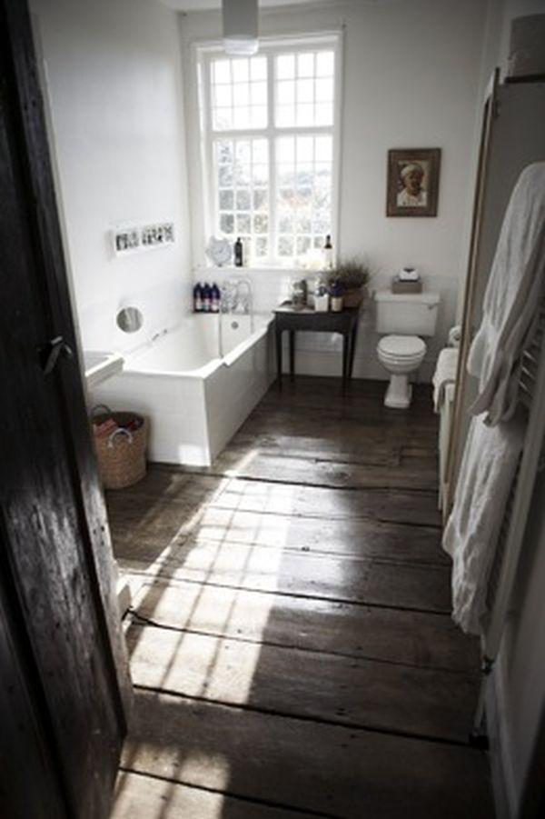 rustic wood floor