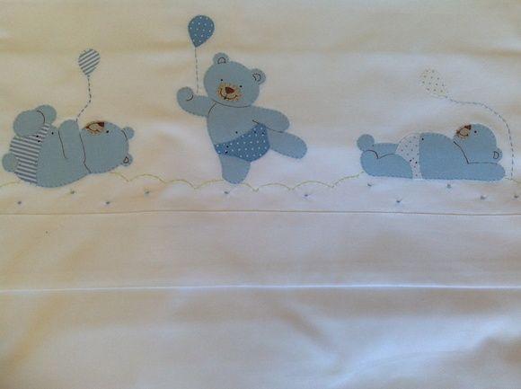 Lençol de berço Ursos brincalhões
