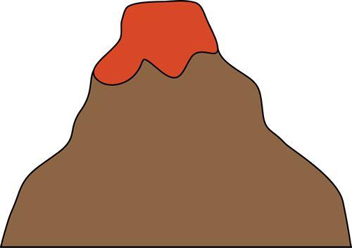 free volcano clipart