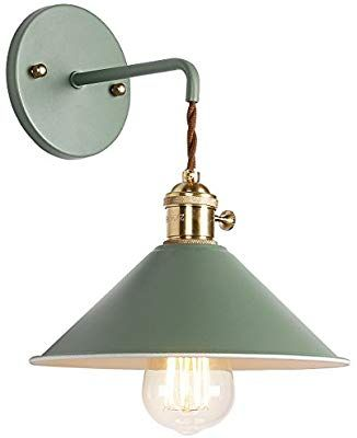 Iyoee Wall Sconce Lamps Lighting Fixture With On Off Switch Green