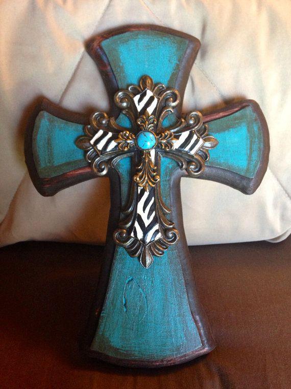 Decorative wooden cross by CrossMyHeart2008 on Etsy