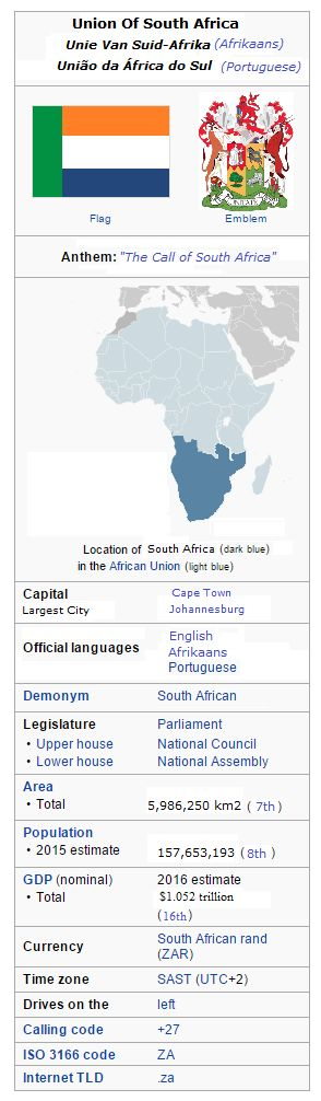 Greater South Africa Wikipedia Facts