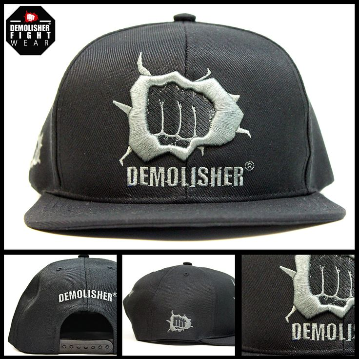 Boné Demolisher® Oficial - Grafite /// Bordado Punch e Demolisher Frontal, Lateral e Traseira  #DemolisherOficial #Porrada #Cap