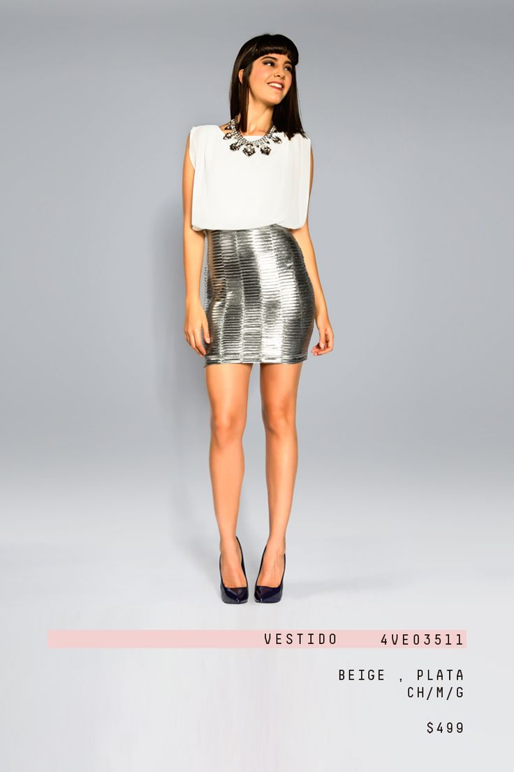 #lizminelli #falda #plata #moda #blusa #fiesta #antro  http://antro.lizminelli.com/