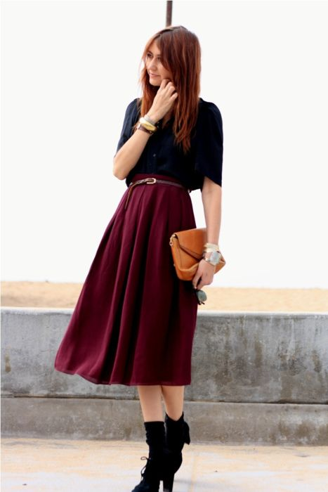 mid-calf length skirts are the next big thing.