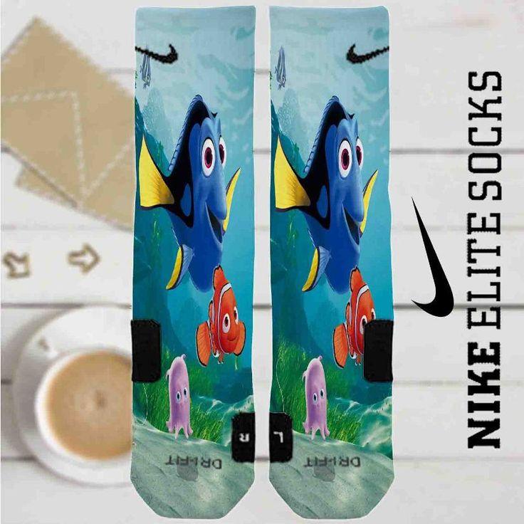 Disney Finding Nemo and Dory Custom Nike Elite Socks