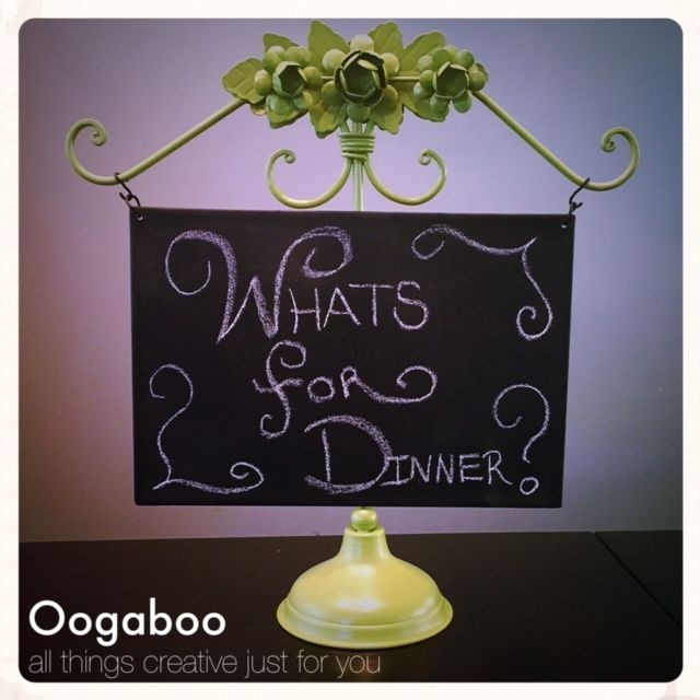 "Green chalk board sign $15 This charming little chalk board sign would look perfect in your home! Let your family know what's for dinner, count down the days until spring break or write a daily verse on it. It stands approx 15"" tall and is 14"" wide. Located in NW Omaha Xposted. To see more vintage and one of a kind items visit www.facebook.com/Oogaboo4u"