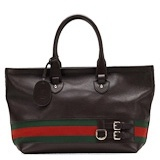 Gucci heritage Large Tote Brown
