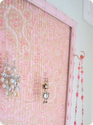 DIY jewelry board - great for a little girls room