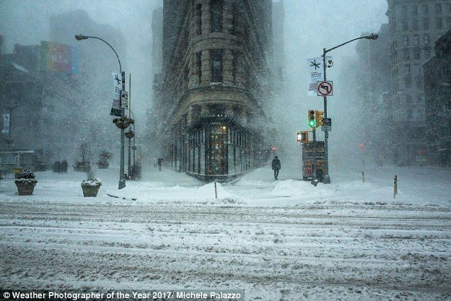 Captured last year, the Jonas snow storm in New York City