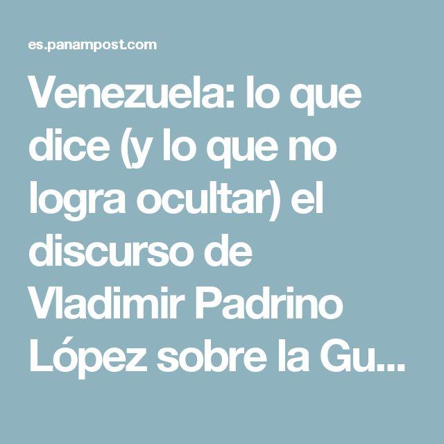 Venezuela: lo que dice (y lo que no logra ocultar) el discurso de Vladimir Padrino López sobre la Guardia Nacional
