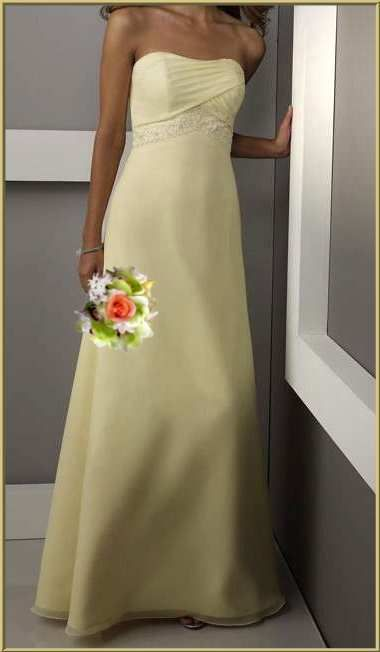 Would my peeps hate me if I chose this color? Pale yellow dresses.