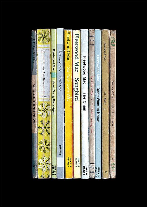 What if Fleetwood Mac had written their 1977 album Rumours as a series of novels instead of songs? This print shows how things might have turned