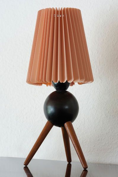 uno teak and painted teak table lamp for luxus c1958 - Lamp Bureau Ado