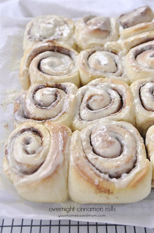 Overnight Cinnamon Rolls are amazing. Make them the night before and refrigerate! Bake in the morning.