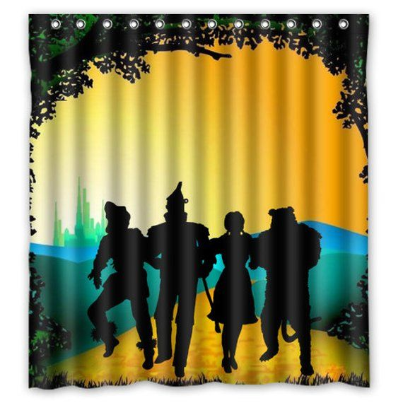 Off To See The Wizard Of Oz Shower Curtain Oz Emerald City