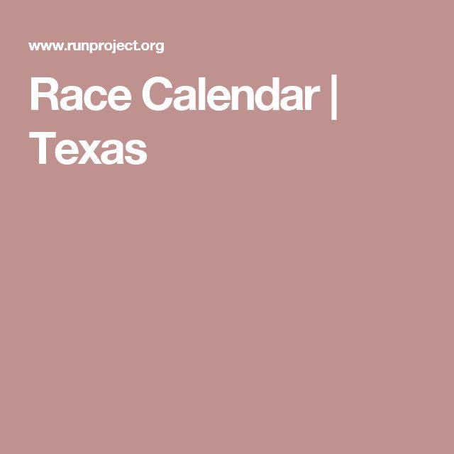 Race Calendar   Texas
