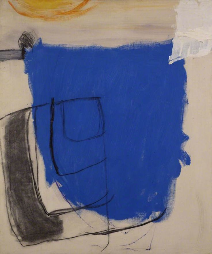 October 1960 (Blue) by Roger Hilton INIGOSCOUT.com, blankets, abstract art, craft, cabins, freedom,