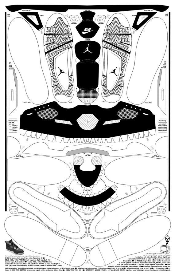 mike-leavitt-cardboard-air-jordan-iv-template.jpg 570×896 pixels