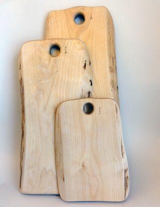Planches à découper en bois brut