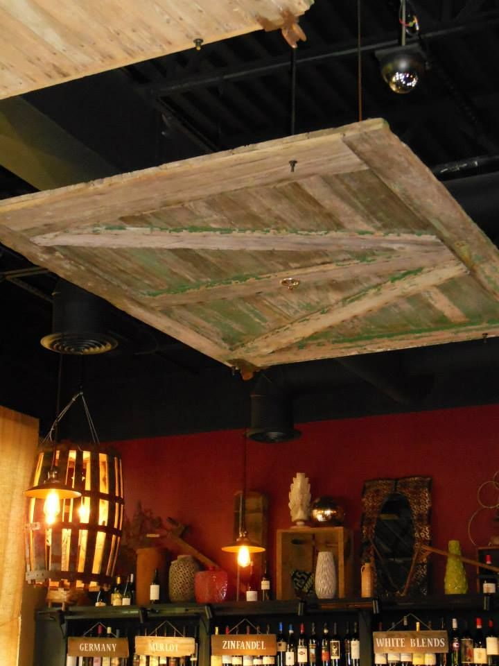 Barn Door Used As A Drop Ceiling LOVE DIY Unfinished Basement Decorating Attic Bedrooms