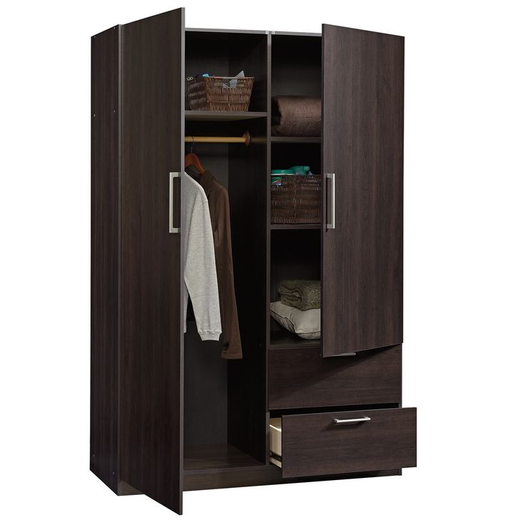 Sauder 414273 Beginnings Cinnamon Cherry Wardrobe Storage