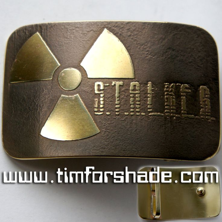 Stalker Chernobyl Radiation brass belt buckle by TimforShade on DeviantArt
