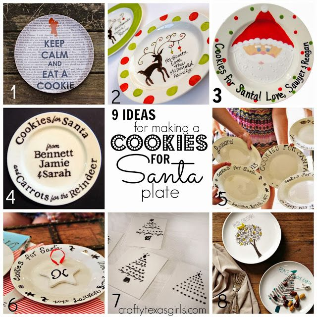 Great craft for a group- large or small. DIY Cookies for Santa Plate using Dollar Tree Plates and Sharpies. Such a fun Christmas activity.