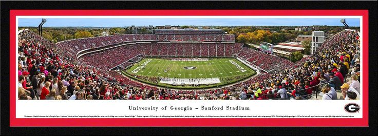 Georgia Bulldogs Football Panoramic - Sanford Stadium Picture