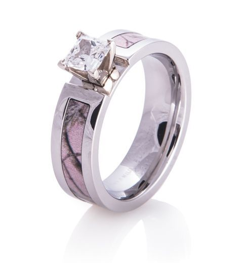 realtree pink camo images   Pink Realtree AP Camo Engagement Band, Women's Outdoor Rings ... by elisa