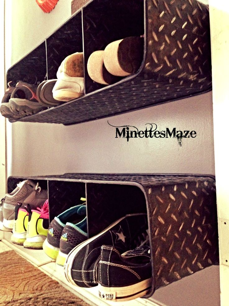 Shoe Storage Ideas Metal Cubby Shelf For