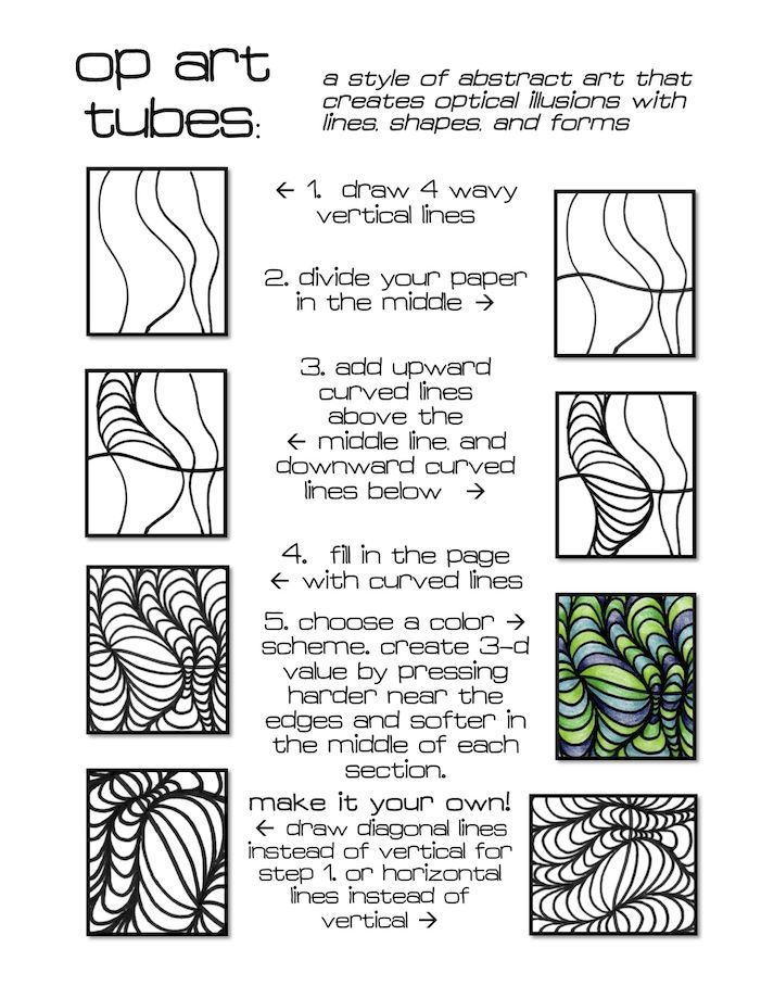 Fun Art Worksheets : Op art menlo park s studio pinterest