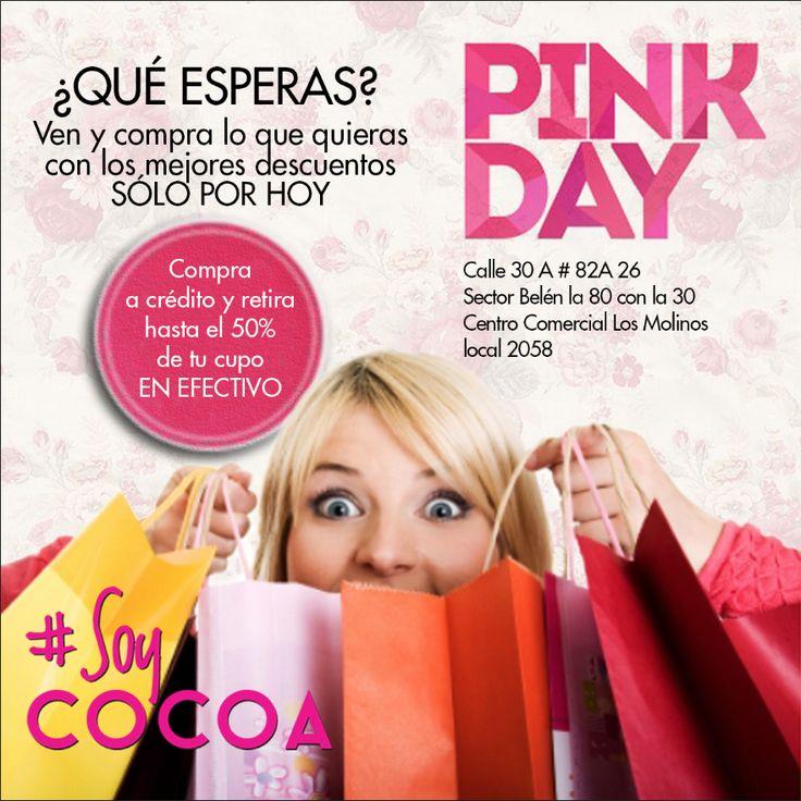 Te estamos esperando en nuestra tienda Los Molinos #DescuentosDeLocura #SoloPorHoy #PinkDay #SoyCompradora #SoyCocoa