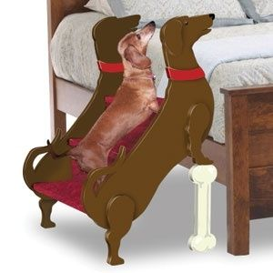 {doxie stairs} Would Lucky use them to get down or just fly off like Superman???